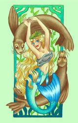 Mucha Mermaids: Spring by Mermaid-Kalo