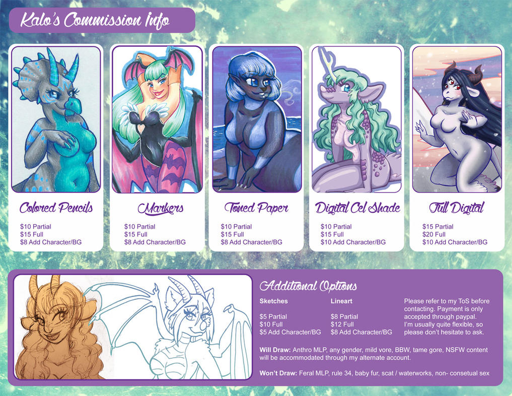 Commission Info 2014 by Mermaid-Kalo
