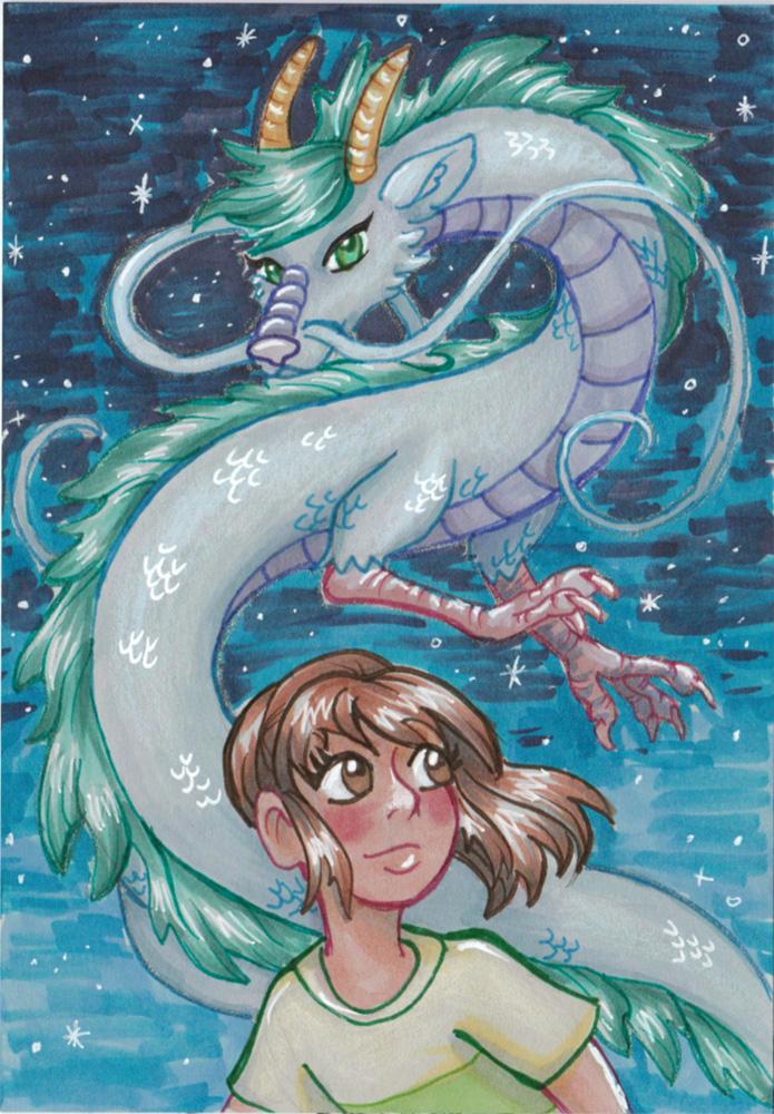 Haku and Chihiro by Mermaid-Kalo