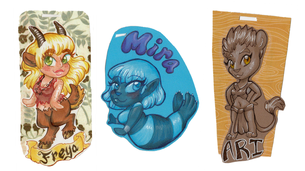 Chibi Badges by Mermaid-Kalo