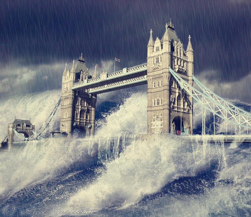 Floods - Tower Bridge by arthame