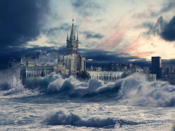 Floods - Ilha Fiscal by arthame