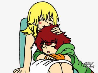 Namine and Maho: I will keep you safe Maho by cardfightvanguard62