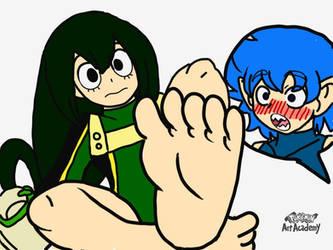 Ryujiro loves Tsuyu feet by cardfightvanguard62