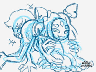 Muffet and her spider tickle-dance by cardfightvanguard62
