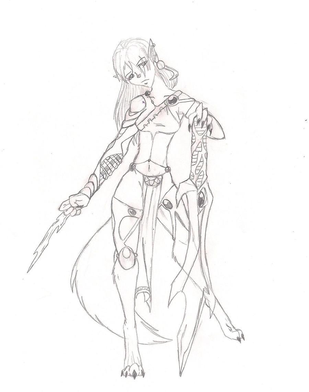 Anthro Wolf Warrior By Rosedarksilverwolf How To Draw