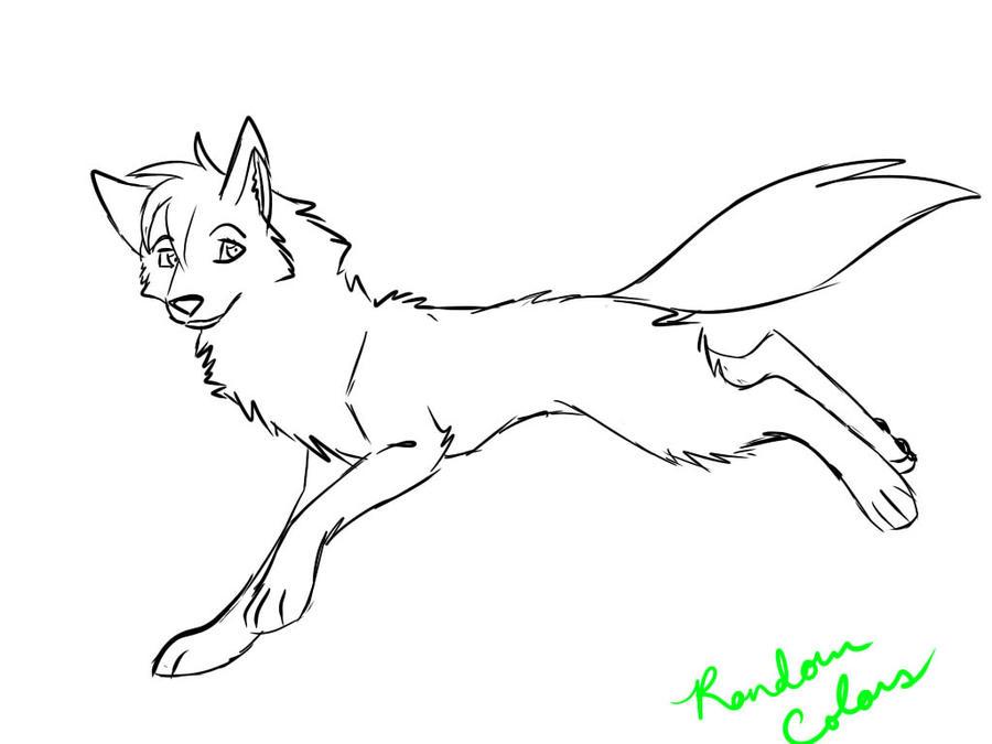 Female Wolf Coloring Page by RoseDark-SilverWolf on DeviantArt