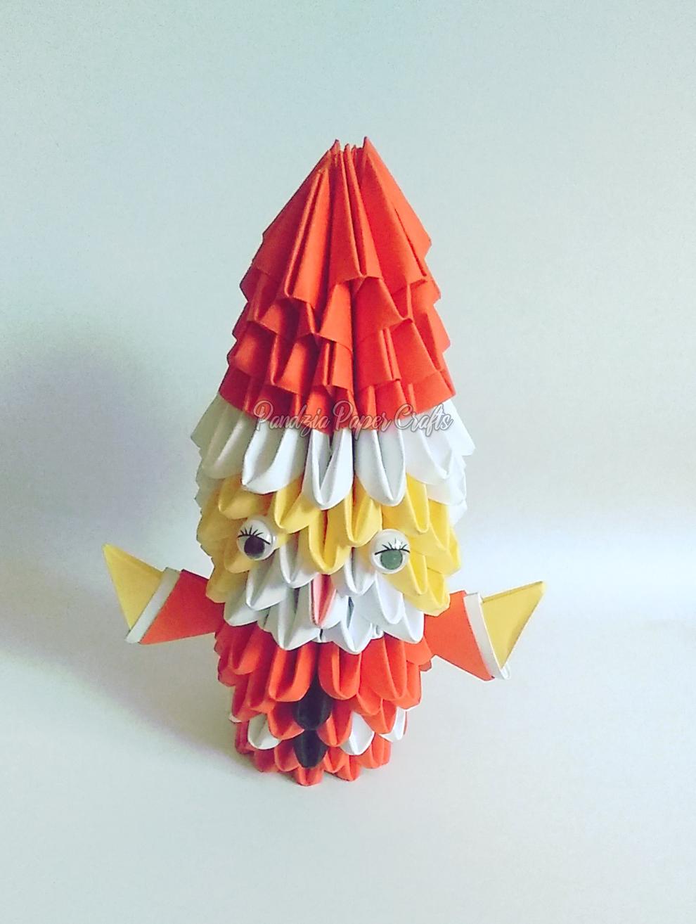 3D origami Santa Claus tutorial part 1 - YouTube | 1314x990