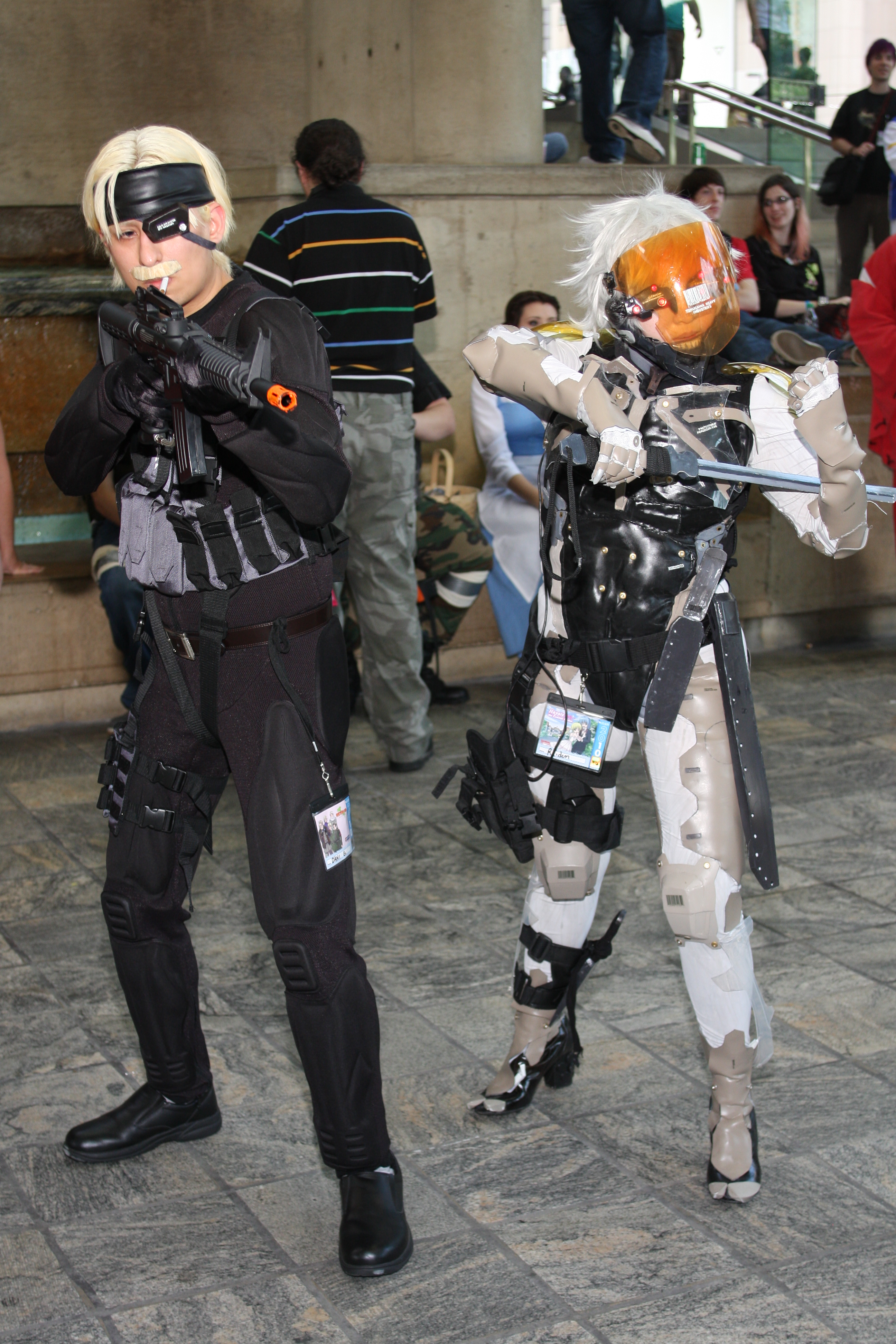 Snake and Raiden from MGS4 by MadcatDrannon