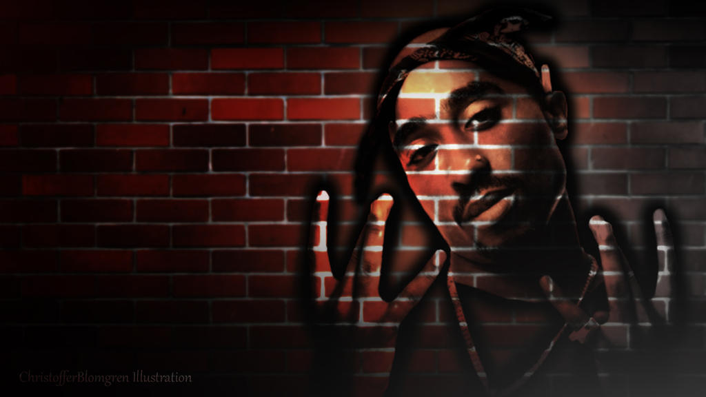 brick wall 2pac wallpaper by fourtreeone on deviantart