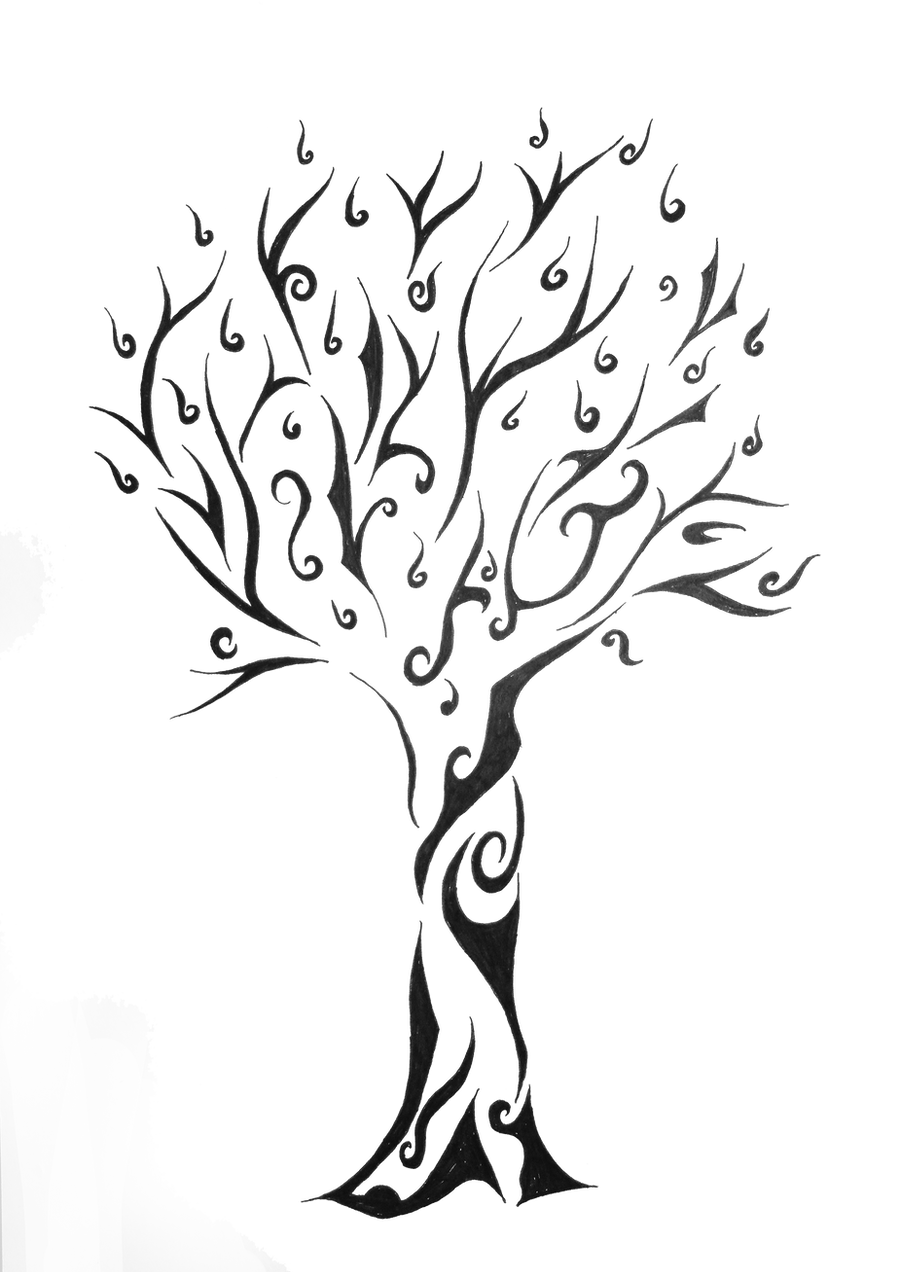 Tribal tree for a friend by nothing4free on deviantart for Tribal tattoo shops near me