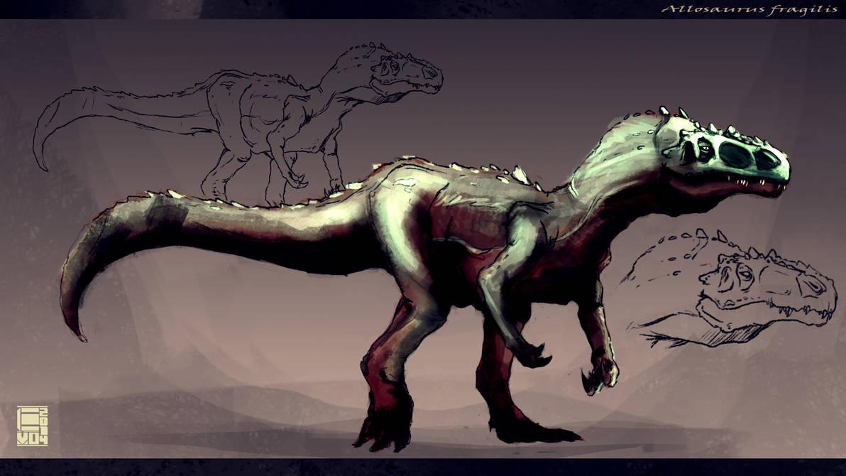 Allosaurus Fragilis by HAUKKAworks