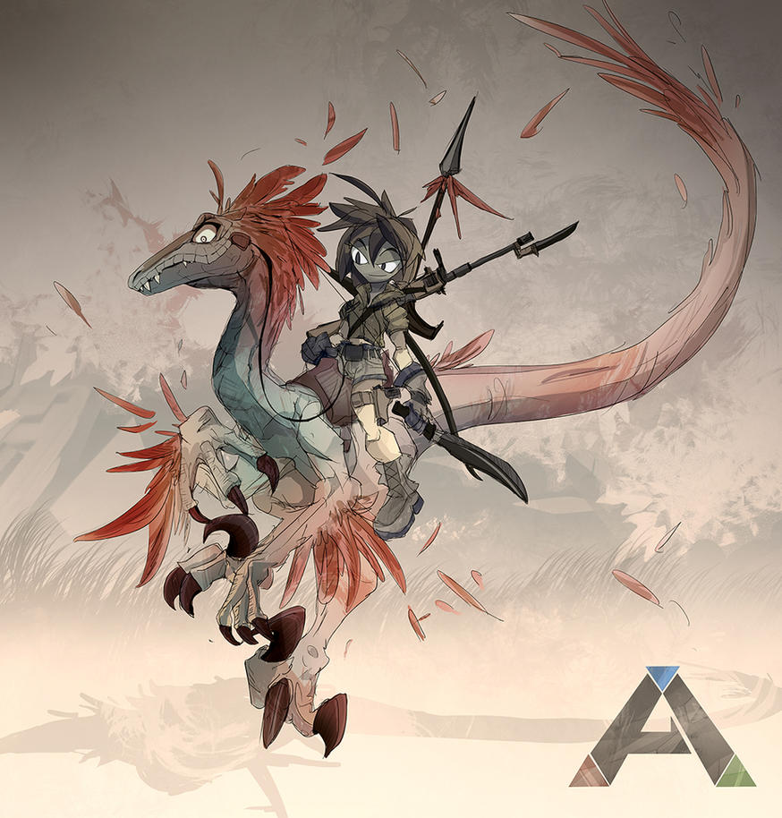 Ark: Survival Evolved   Raptor Rider By EvoBallistics ...