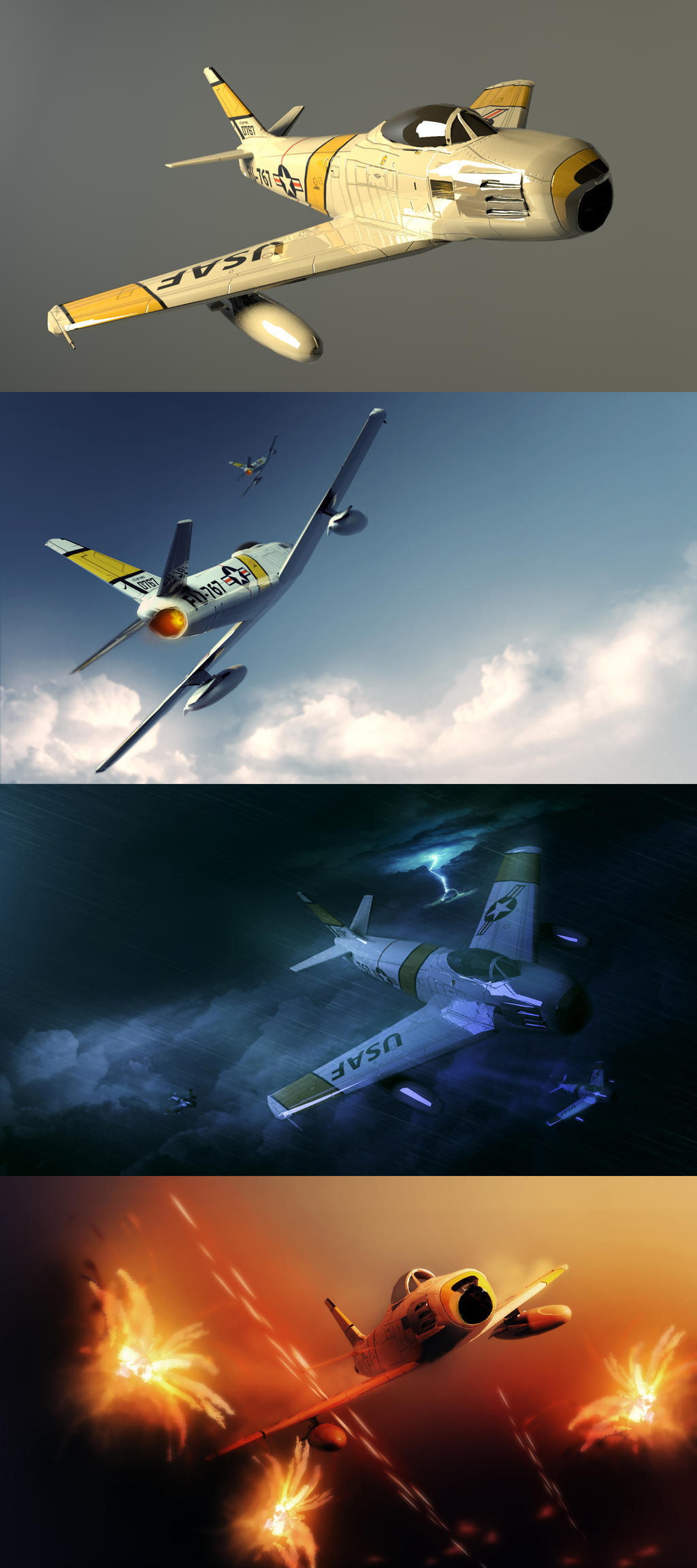 3D Dump - F-86 Sabre by HAUKKAworks
