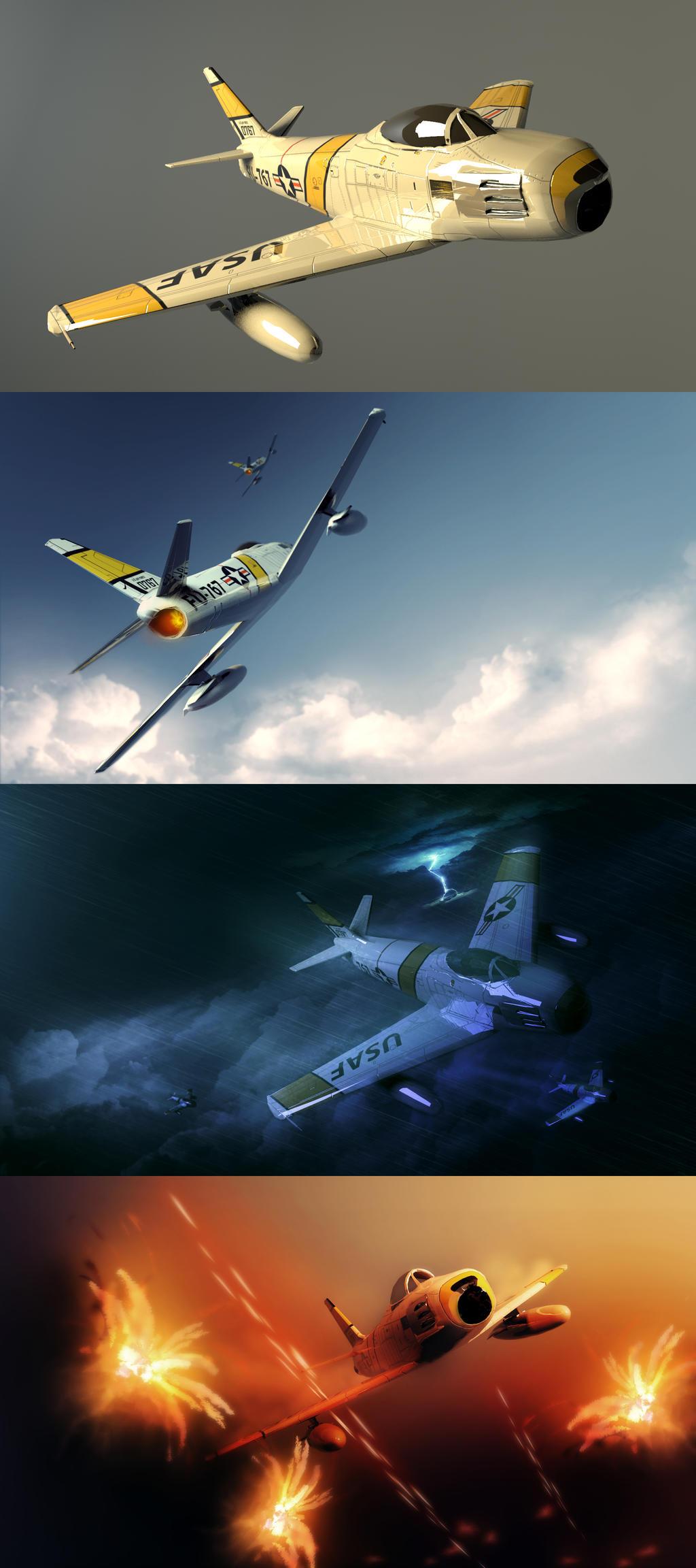 3D Dump - F-86 Sabre by EvoBallistics