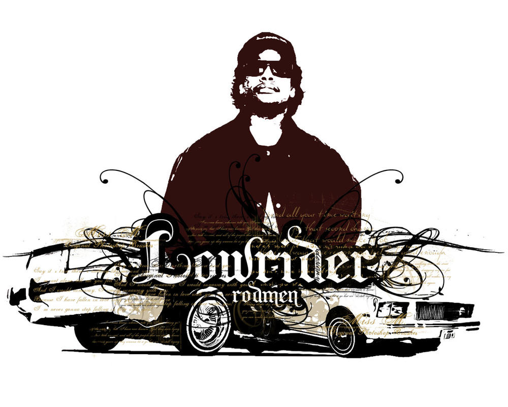 Eazy-E and two lowriders by rodmen