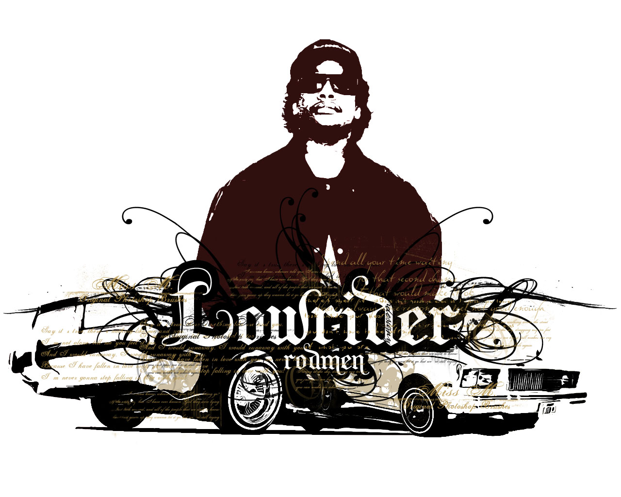 Eazy-E and two lowriders by rodmen on DeviantArt