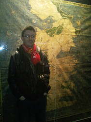 Me and a canvas map of Westeros