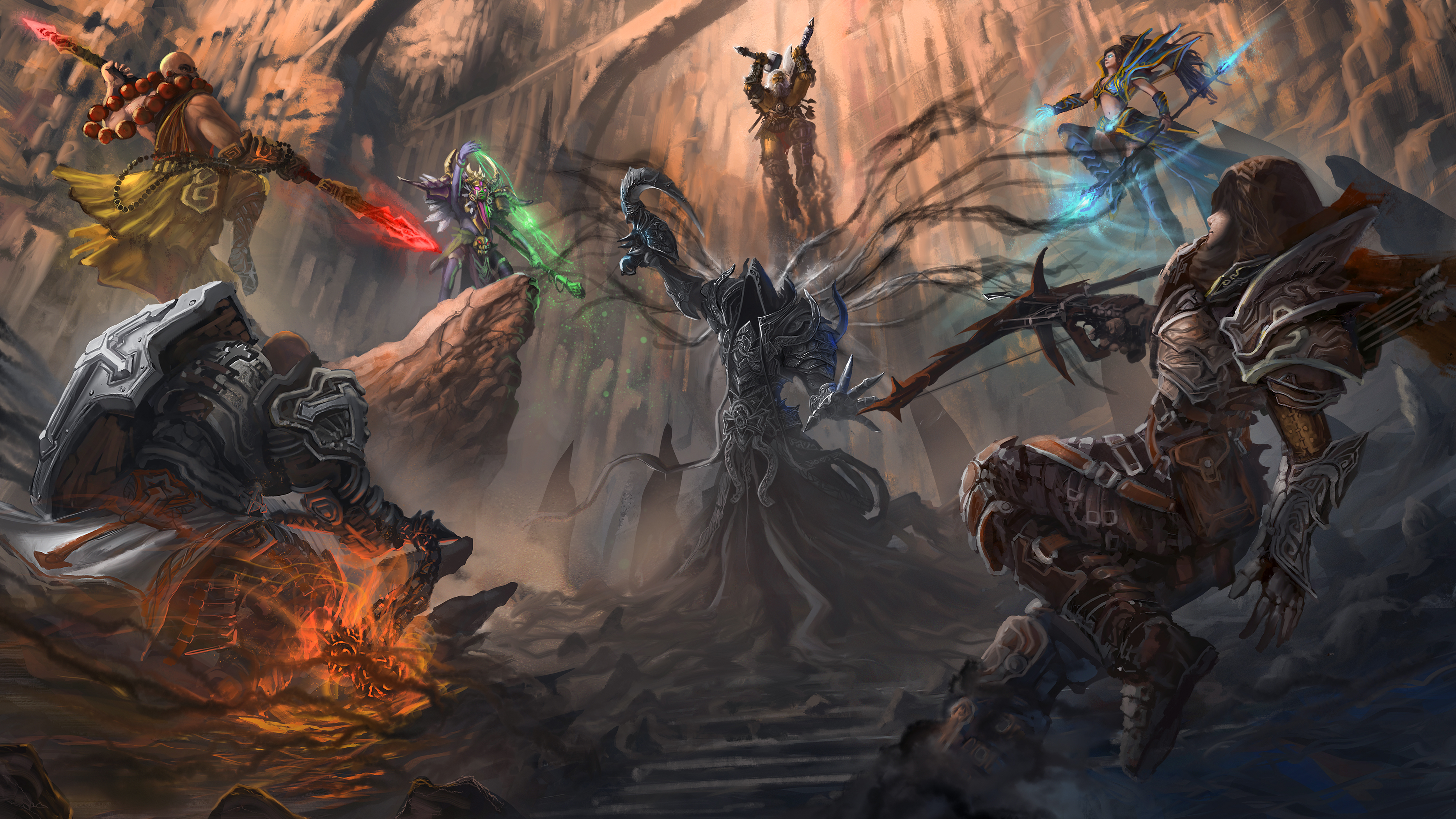 Diablo 3 ReaperOfSouls fanart - All Against Death by novaillusion