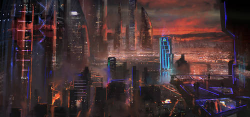future city 1 by novaillusion