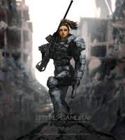 steel samurai - Sniper by novaillusion