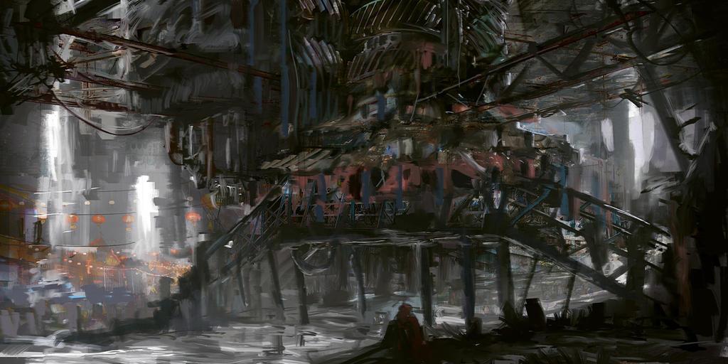 Super Speedpaint - Futuristic Slums by novaillusion