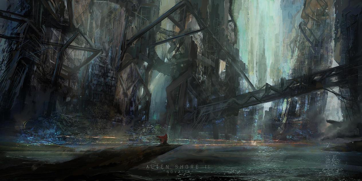 Super Speedpaint - Alien shores by novaillusion