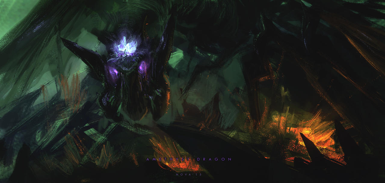 Super Speedpaint - Amethyst dragon by novaillusion