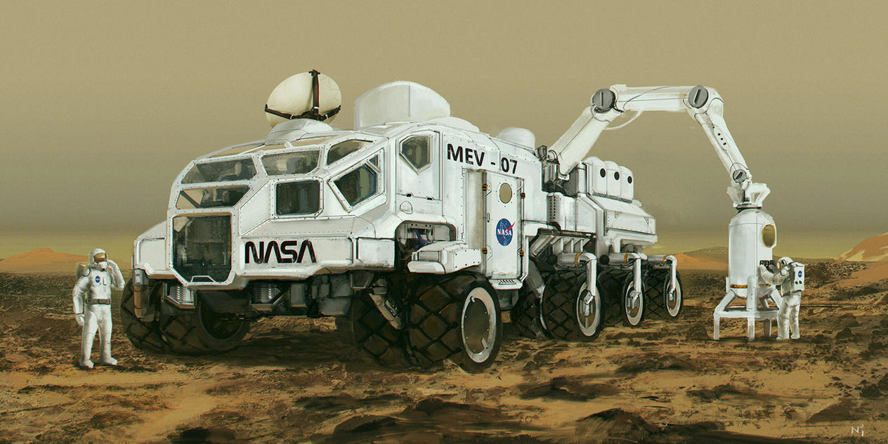 Mars exploring vehicle by novaillusion