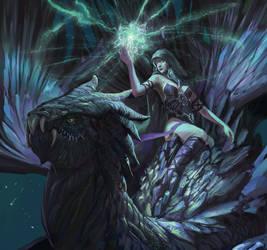 Goddess on Dragon