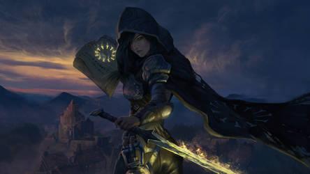 Fantasy woman druid illustration by novaillusion