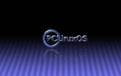 PClinuxOS Blue Stripes Wallpap by RonnyRHL