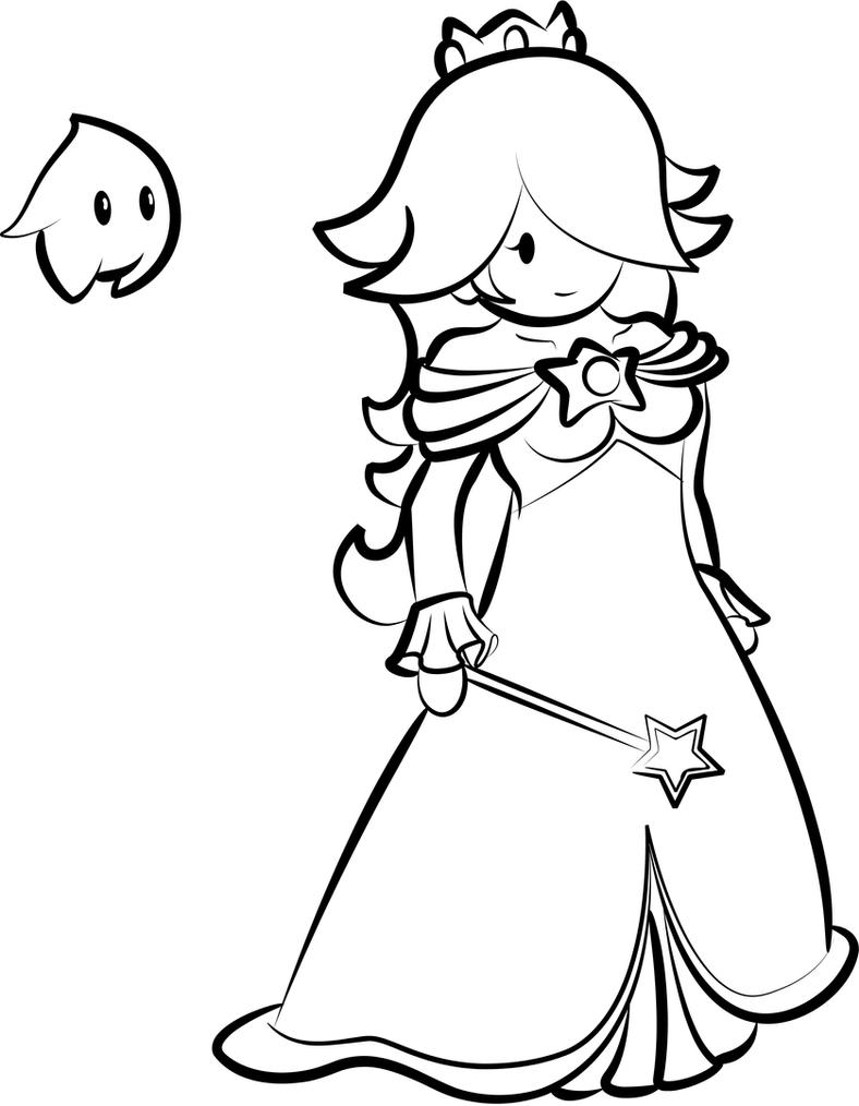 Paper Rosalina inked by Ugh-first-aid on DeviantArt