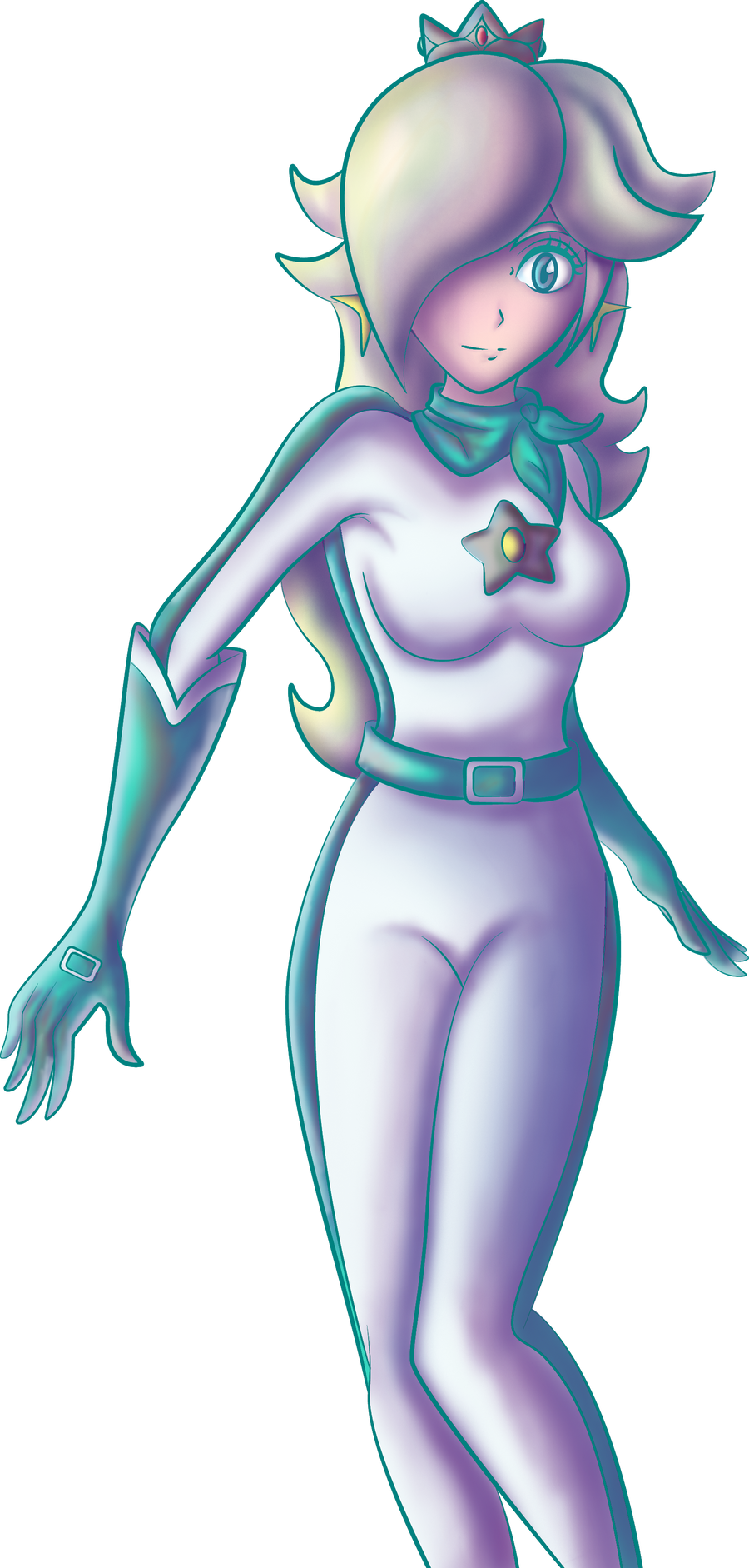 Rosalina Mario Kart coloured by Ugh-first-aid