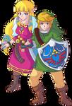 Skyward Link and Zelda HS