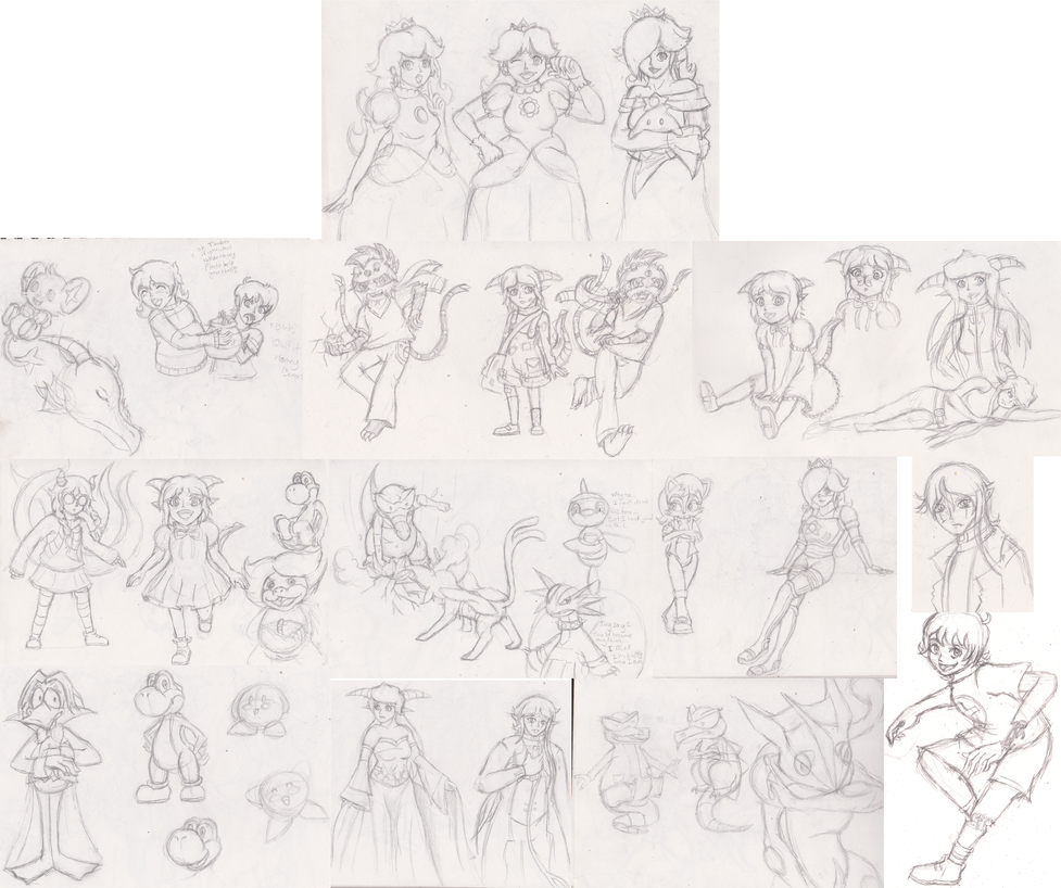 07 September  2014 sketch dump by Ugh-first-aid