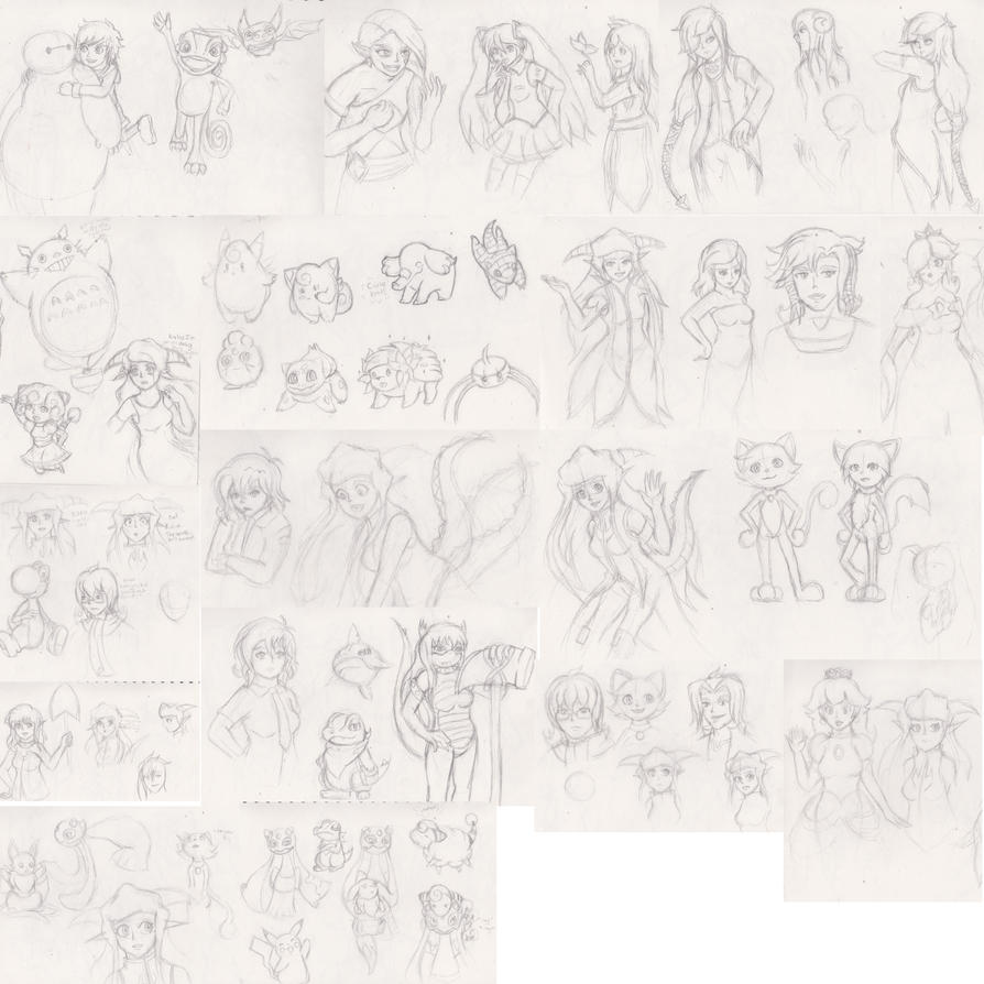 20th July 2015 Sketch dump by Ugh-first-aid