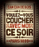 Can-Can de Bois Poster