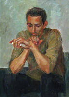 portrait with cigarette by eleth-art