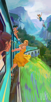 Witches on a railroad adventure 3