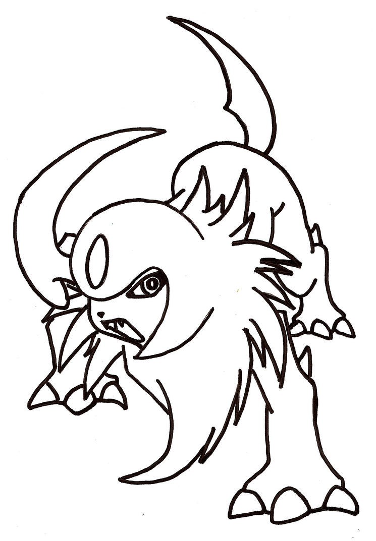 coloring pages absol - photo#15