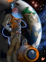 Captain Future Steampunked by Kawenzmann