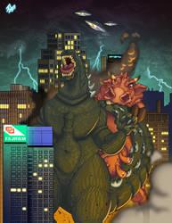 JAC Godzilla VS Big Bertha by Kawenzmann