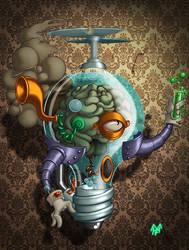 Professor Simon Wright Steampunked by Kawenzmann