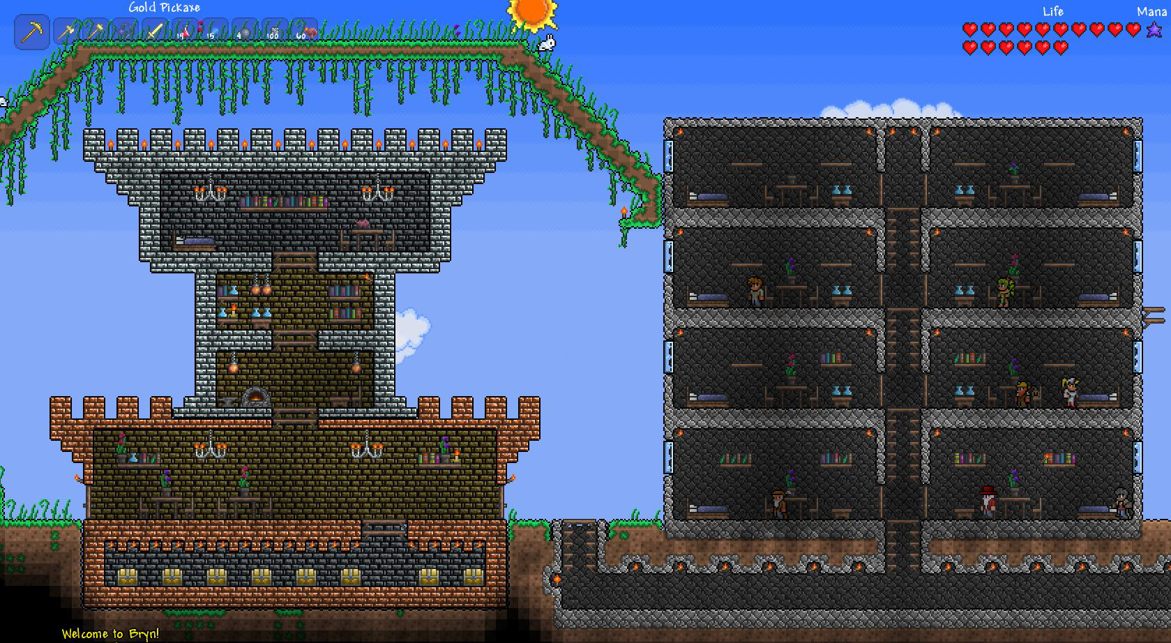 Terraria Houses by coradee on DeviantArt