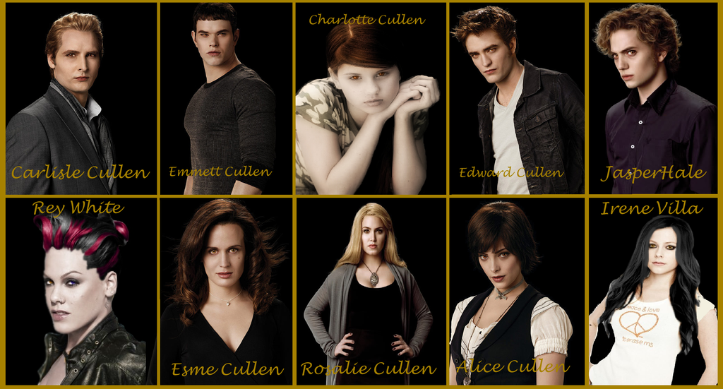 twilight meet the cullens names
