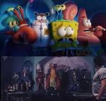 Spongebob And Friends Hiding From Animatronics