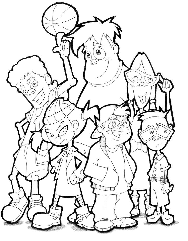 recess cartoon coloring pages - photo#1