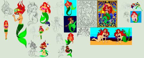 Ariel Lineart 1-13 by lunatwo