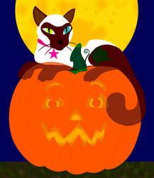 pumpkin an ghost Luna